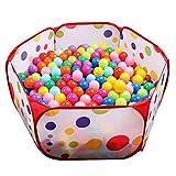 Evmho Kinderball-Pool, sechseckig, gepunktet, leicht zusammenklappbar, Spielhaus für drinnen und...