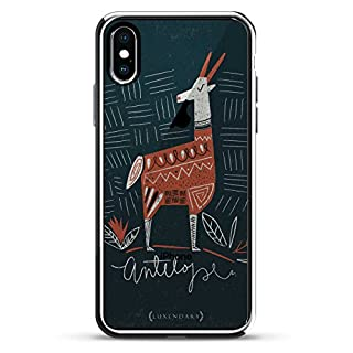 LUXENDARY Antelope Translucent Hand Drawn Artsy 3D Texture Printed Design High-End Case IPhone X - Chrome/Silver