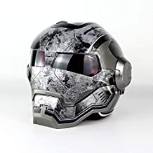 Casco De Motocicleta para Adultos Casco Integral/Casco Frontal Abatible/Certificado D.O.T Iron Man