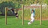 Garten Turnreck für Kinder im Maß 286 x 190 / 210 cm ( Breite x Höhe ) - TÜV SÜD geprüft -