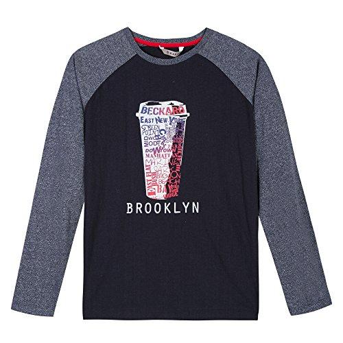 Brooklyn Kinder T-shirt (B-KARO Jungen T-Shirt G Brooklyn Flatbush Blau (Marine 04) 14-15 Jahre (Hersteller Größe: 14/16))