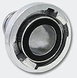 Wiltec Storz-Kupplung C 52 mm mit langem Stutzen Schlauchkupplung Aluminium Test