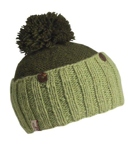 Schildkröte Fell Damen Nepal isette Cabrio Hand Knit Fleece Mütze, damen, Kale (Knit Hat Nordic)
