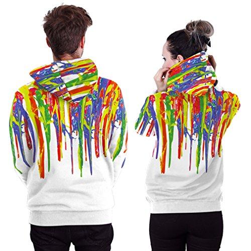 Belsen unisex Kapuzenpullover Sweatshirts Liebhaber Valentine Set Painting white