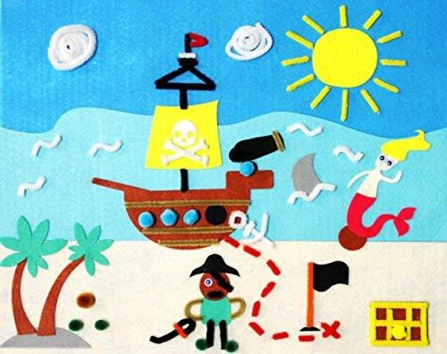 Kit Tabella in Feltro-C & # x153; Ur di pirata-Sodertex