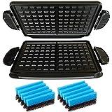 Spares2go 2x waffle piatti + 2x spugne per George Foreman Evolve grill System