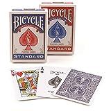 4 jeux de cartas Bicycle POKER (2 jeux azules y 2 rojos)