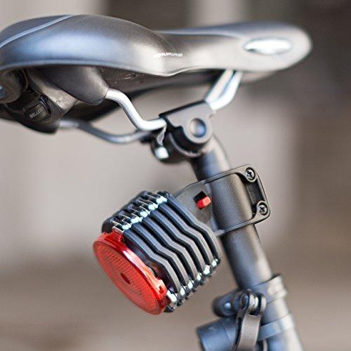 Relaxdays Antivol pliant de vélo + réflecteur sécurité support rangement fixation selle