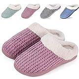 IceUnicorn Winter Hausschuhe Damen Memory Foam Plüsch Wärme Home rutschfeste Slippers Wollähnliche Drinnen und Draußen(Pink, 40/41EU)