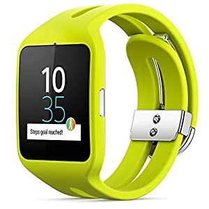 Sony Mobile SWR50 SmartWatch 3 Fitness and Activity Tracker Wrist Watch Compatible with Android 4.3+ Smartphones - Sport Lime Green