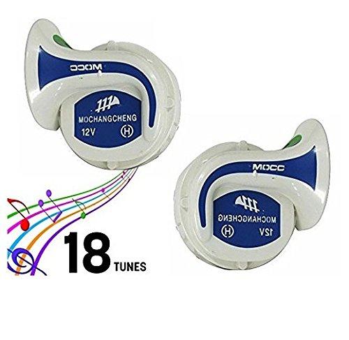 Motoway Mocc 18 In 1 Digital Tones Bike Magic Horn Set Of 2 For Yamaha Fz-S
