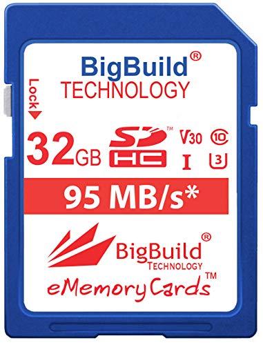 BigBuild Technology 32GB UHS-I U3 95MB/s Speicherkarte für Canon PowerShot SX420 is, SX430 is, SX520 HS, SX530 HS, SX540 HS, SX60 HS, SX610 HS, SX620 HS, SX710 HS, SX720 HS, SX730 HS, SX740 HS Kamera