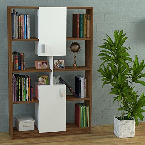 Homidea ACASIA Bücherregal - Büroregal - Standregal für Wohnzimmer oder Office in modernem design...