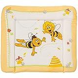 Wickeltischauflage Biene Maja, wasserabweisend und abwaschbar • Wickelunterlage Wickel Tisch Auflage Aufsatz Wickelmatte 85 x 75 cm