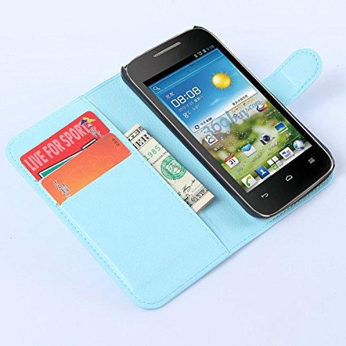 Easbuy Pu Leder Kunstleder Flip Cover Tasche Handyhülle Case Mit Karte Slot Design Hülle Etui für Huawei Ascend Y520 / Y540 Smartphone Handytasche