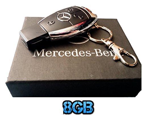 Penna USB 8 Gb Flash Stick, a forma di chiave auto con telecomando, in confezione regalo, colore: nero
