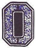 Bügel Iron on Buchstaben Aufnäher Patches für Jacken Cap Hosen Jeans Kleidung Stoff Kleider Bügelbilder Sticker Applikation Aufbügler zum aufbügeln Buchstaben CA 8-10 cm(blau O)