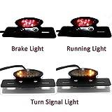 Rich Choices 12 V Motorrad Rücklicht LED Nummernschild Halterung Schwanz Bremslicht Blinker Licht für Chopper ATV Cruisers