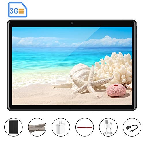 Tablets Baratas,8Pcs 3G 10 Pulgadas 2GB De Ram 32GB ROM Dual SIM Octa-Core 5000mAh Batería Android 7.0 Resolucion de Pantalla 1920x1200 Pixeles Cámara WiFi/ Bluetooth/GPS/OTG V Mobile 806 (Negro)