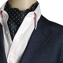 NiSeng Cravatta Ascot Paisley Jacquard Multicolore Cravatte da Cerimonia Cravatta da Uomo Ascot Accessories