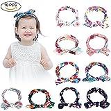 YISSVIC 10Pcs Diadema para Niñas Cinta para Cabeza Banda de Pelo para Bebés Mujeres [10 Colores Diferentes]