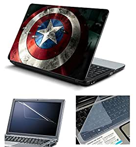 NAMO ART Large3in1HQ11082 Combo of Laptop Skin with Screen Protector and Keyguard