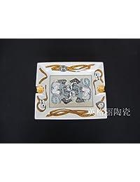 XOYOYO Las exportaciones europeas de Bone China High-Grade mosaico dorado palacio de lujo Cenicero