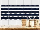 GRAZDesign 770396_20x20_FS10st Fliesenaufkleber Anker maritim | Fliesenbilder für Bad | Blau - Weiß gestreift | Fliesen zum Aufkleben Bad | Selbstklebende Fliesen-Folie | verschiedene Motive (20x20cm // Set 10 Stück)