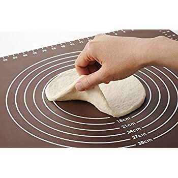 Pastry Mat , Extra Large Silicone Pastry Rolling Mat with Measurements, Pastry Rolling Mat, Reusable Non-Stick Mat 51cm x 41cm EU-HK031