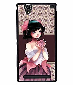 Fuson 2D Printed Girly Designer back case cover for Sony Xperia T2 Ultra - D4363