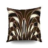 Best Pillowcase Modern Fantasy Sofas - Capsceoll mushroom abstract art deco brown Decorative Throw Review