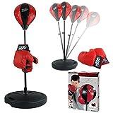 funkybuys® Boxen Boxsack W/Handschuhe Punching Ball Set für Kids Toys Play Geschenk