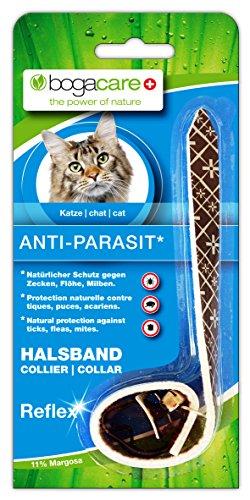 Bogacare UBO0418 Anti-Parasit Vlies Halsband Katze Reflex, schwarz