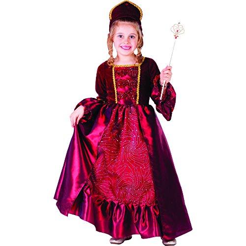 Belle Ballkleid Goldenen Kostüm - Dress Up America Burgunder Belle Ballkleid für kleine Mädchen