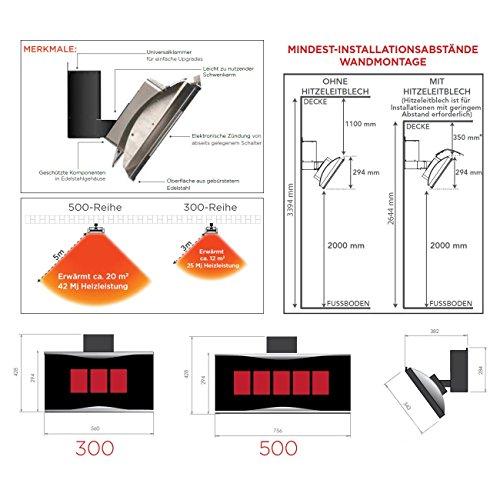 BROMIC Infrarot Gas-Heizstrahler PLATINUM 500 - 4