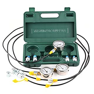 Anddas XZTK-60 Portable Excavator Hydraulic Pressure Test Kit, Hydraulic Gauges, Test Coupling by Anddas