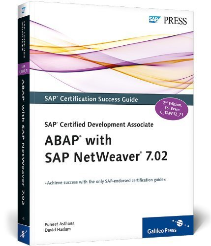 SAP Certified Development Associate - ABAP with SAP NetWeaver 7.02 by Puneet Asthana (2012-09-28) par Puneet Asthana; David Haslam;