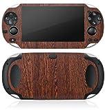 Sony PS Vita Case Skin Sticker aus Vinyl-Folie Aufkleber Nussbaum Holz Look Holzboden