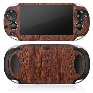 DeinDesign Sony PS Vita Case Skin Sticker aus Vinyl-Folie Aufkleber Nussbaum Holz Look Holzboden