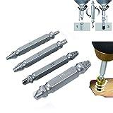 Lalang 4-teilig Schraubenausdreher-Set Bohrwerkzeuge Schraubenlöser Werkzeug Bit-Set ,zum Entfernen beschädigter Schrauben