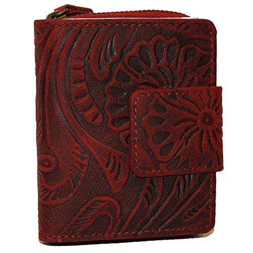 Neue Geldbörse Leder Damen Frauen Portemonnaie Geldbeutel Top Qualität Rot Hill Burry NEU (Geldbörse Damen Neue)