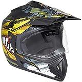 Vega Off Road D/V Fighter Dull Black Neon Yellow Helmet, M