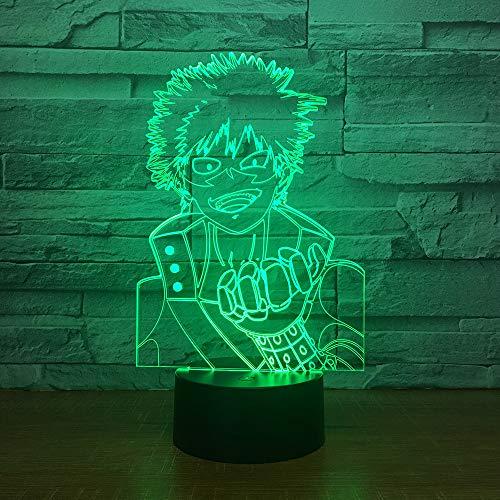 7 farbe 3D LED visuelle modellierung anime charaktere nachtlicht kinder touch button USB tischlampe dekoration beleuchtung geschenk