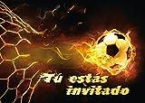 Edition Colibri 12 Invitaciones en español 'Futbol' (Jgo. 2): Juego de 12 Invitaciones al Futbol para cumpleaños Infantil o Fiesta (10717 ES)