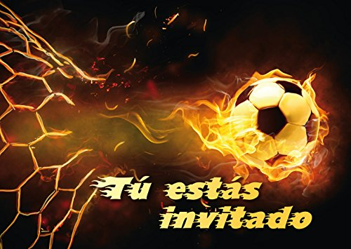 """Edition Colibri 12 Invitaciones en español """"Futbol"""" (Jgo. 2): Juego de 12..."""