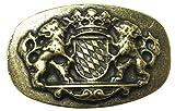 Brazil Lederwaren Gürtelschließe Bayerisches Wappen 4,0 cm