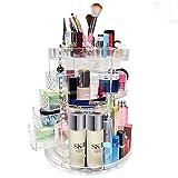 VKFG® Cosmetic Makeup Organizer Beauty Organizer, 360 ° Box Cosmetico Acrilico Girevole Sagomato Per Cassettiere, Camere Da Letto, Bagno Di Stoccaggio