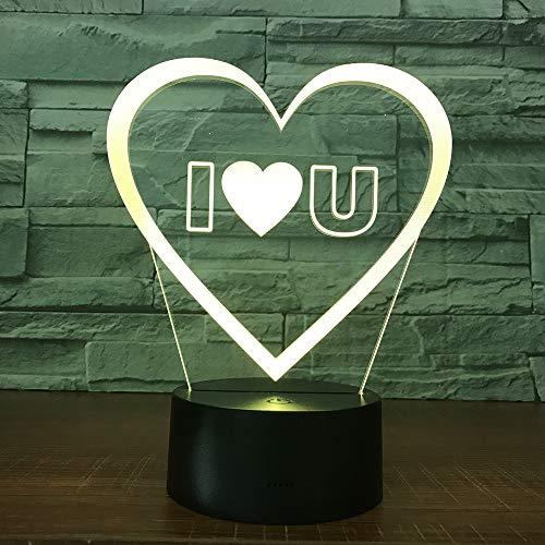 Ti amo amante a forma di cuore luci a palloncino decorazione romantica colorata luce notturna fidanzate regalo anniversario