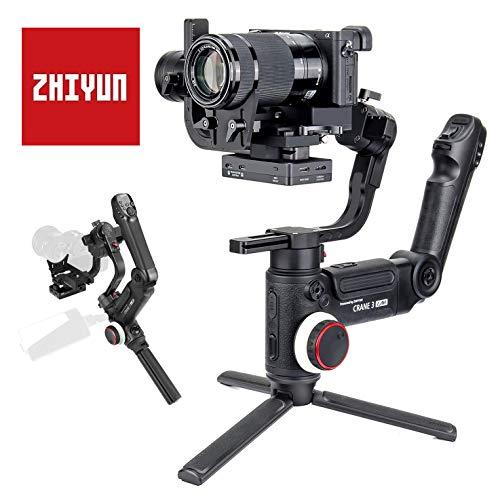 Zhiyun Crane 3 LAB Kamera Gimbal, DSLR Stabilisator Handheld Camera Stabilizer 3-Achsen 4,5kg Traglast, Drahtlose Bildübertragung für Canon EOS 5D 6D 80D Sony A9 A7 Nikon D850 Z7 Z6 Panasonic GH5 4
