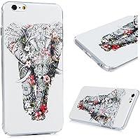 iPhone 6 Plus/6S Plus Custodia Cover - Lanveni Copertina Rigida PC Ultra Sottile per iPhone 6 Plus/6S Plus 5.5 pollici Trasparente Protective Case - Modello Elefante